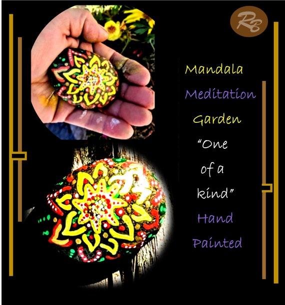 mandala, rock,  healing , meditation, garden, zen, healer, gift,  gift, love, life, Buddha,hand painted, healing