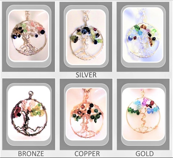 Genealogy Tree, Family Birthstone jewelry,tree of life jewelry,family Tree, tree of life,healing jewelry,nature,mother daughter jewelry, zen