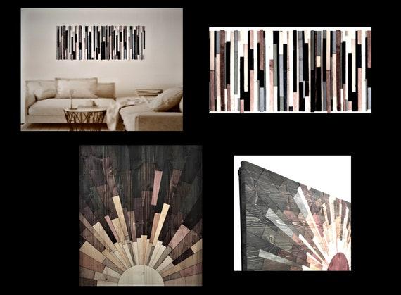 Large, Wood, Art,  Cabin Decor,Lodge, Decor,rustic, wood blocks, up cycled, reclaimed, wood, large,Original, art, painting,  birch tree art,