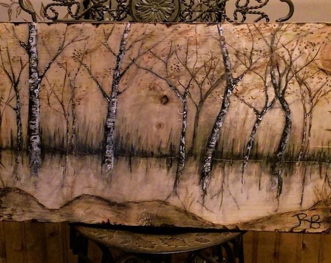 wood anniversary gift - tree lover - Cabin Decor - Lodge Decor - Rustic decor,Trees,Tree Art,Nature Art,Tree lovers,Nature lovers gift