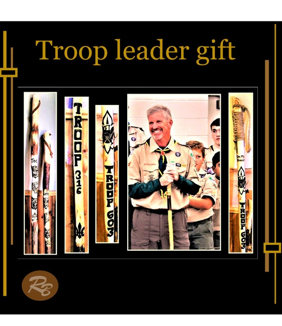 Troop Leader gift, Scout leader gift, retirement gift, Scout gift,hiking stick,walking stick,