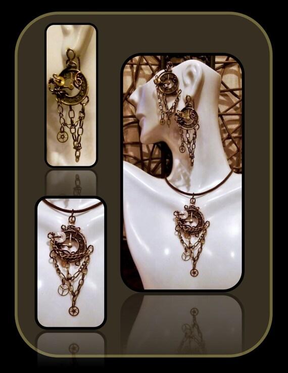steampunk jewelry - girlfriend gift - Steampunk Necklace - steampunk - clock jewelry,Cosplay jewelry,Sci Fi jewelry,Octopus,gears,Steam punk