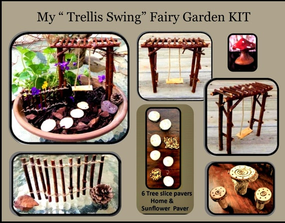 fairy garden, dish garden, fairy garden kits, child garden, kids gifts,  fairy bench, fairy furniture, fairy accessories, fey,fairie
