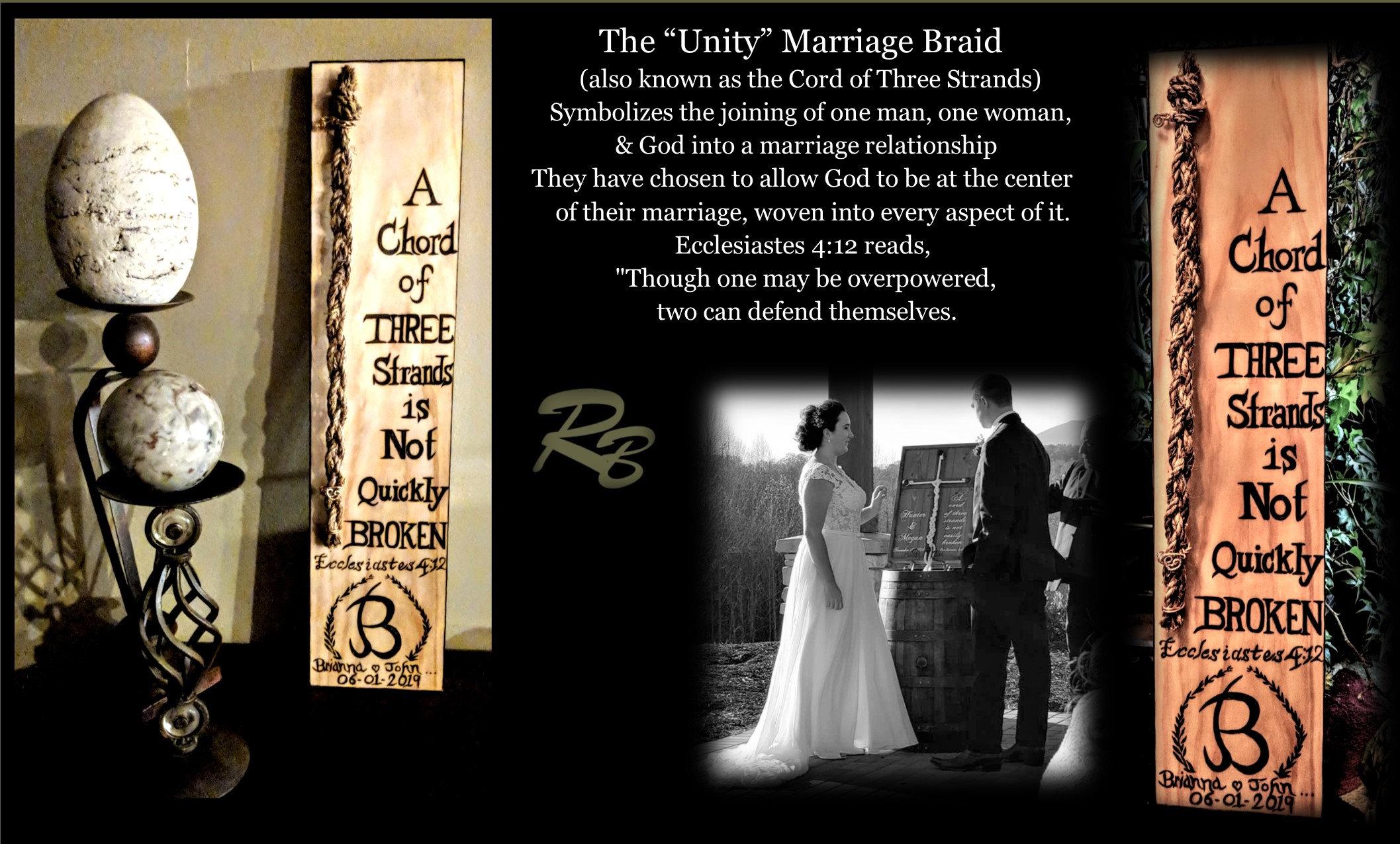 Wedding Unity ceremony, Bible verse, Ecclesiastes 4:12, Mark 10 9