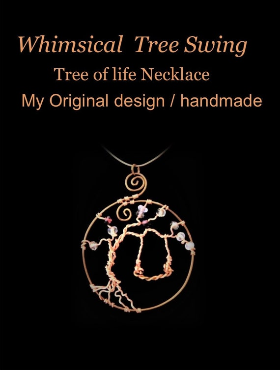 Tree swing, tree of life, necklace, mother gift, wife gift, daughter gift, sister gift, friend gift