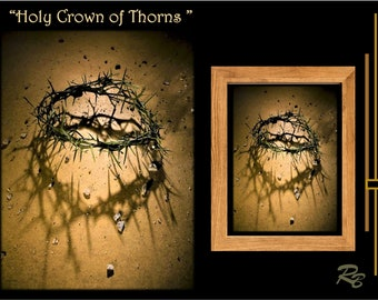 Holy Crown of Thorns, Crown of Thorns, digital art, Print,
