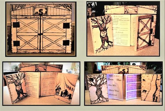 Wedding guest book, Barn Wedding ,Rustic Wedding,  Guest book,  Wood Book, cool wedding guest book