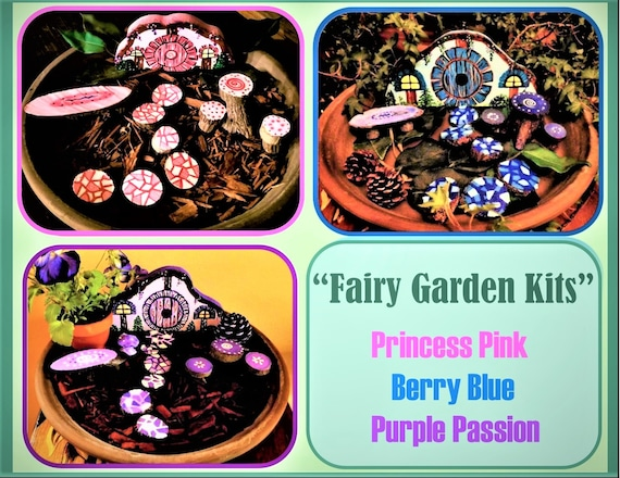 fairy garden kit - kids garden - fairy gardens  -  faerie garden - fairy furniture  -  children gifts - dish garden ,daughter gift,wife gift