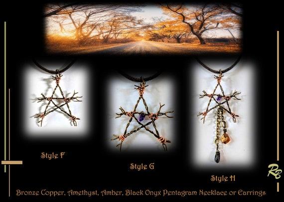 Wiccan jewelry, pentagram gift pentagram,Pentacle Jewelry, twig, stick, star, Pentagram, Jewelry,pentagram necklace, pendant,alter pentacle