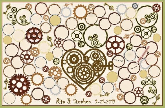 Steampunk Wedding, guest book, alternative, accessories, jewelry, bridemaid gifts,steampunk,