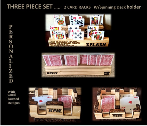 Retirement, gift, Canasta ,3 Piece Set, playing card holder, rack,tournament, personalized, husband, gift, wife, mother gift, father gift,