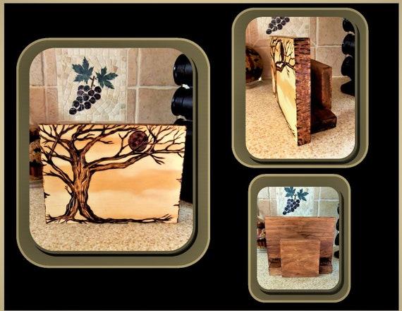 napkin holder, rustic, trees,wood anniversary gift, ,Couple gift,Wood Anniversary ,lyric art,5 yth Anniversary gift