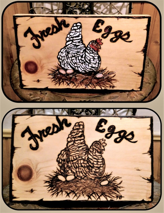 barred rock, chicken lovers gift, Fresh Eggs sign, chicken art, Kitchen decor,   rooster, chicken decor, Rooster, Chicken coop sign