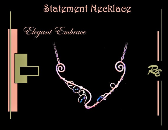 Elegant, Embrace, High Fashion, Art jewelry, Mother gift, Daughter gift, Wife gift, STATEMENT, necklace, Jewelry, fashion jewelry,