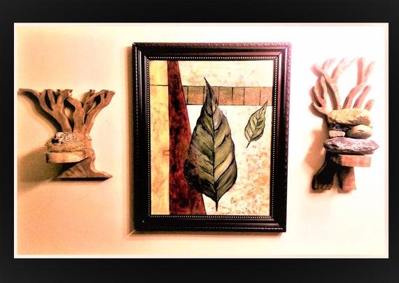 Rustic, home decor,Sconce, tree art,,wall art,Towel holder, toilet tissue holder, Bathroom, Tree decor, Trees,  Cabin Decor, nature lover, ,