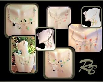 spring jewelry - tree of life jewelry- healing gemstone jewelry - mother gift,wife gift,grandmother gift,,Family Birthstone jewelry