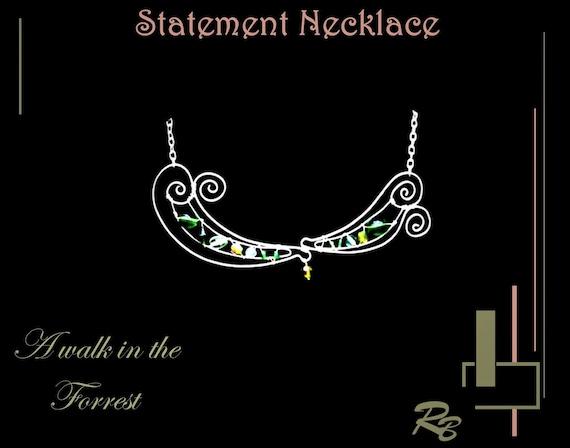 A walk in the Forest, STATEMENT, necklace, Jewelry, High Fashion, Art jewelry,  geometric, fashion jewelry, bangel, bangle, cuff,