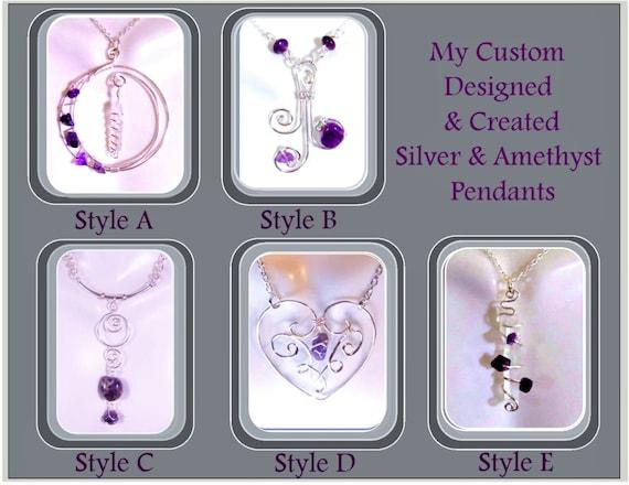 Valentines jewelry,Heart jewelry,February jewelry,Amethyst jewelry,girlfriend gift,mother gift,wifte gift,daughter jewelry