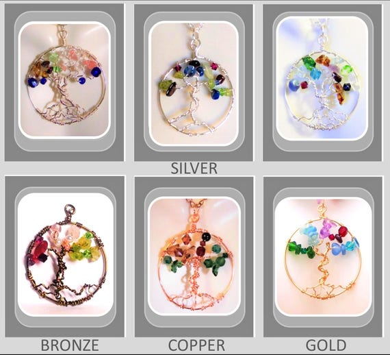 mother gift,wife gift,daughter gift,birthstone tree,family birthstone necklace, tree of life
