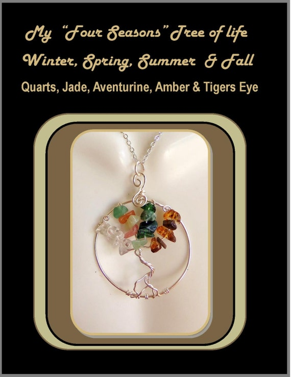 four seasons, tree of life, mother, gift, grandmother, wife,  tree of life jewelry,
