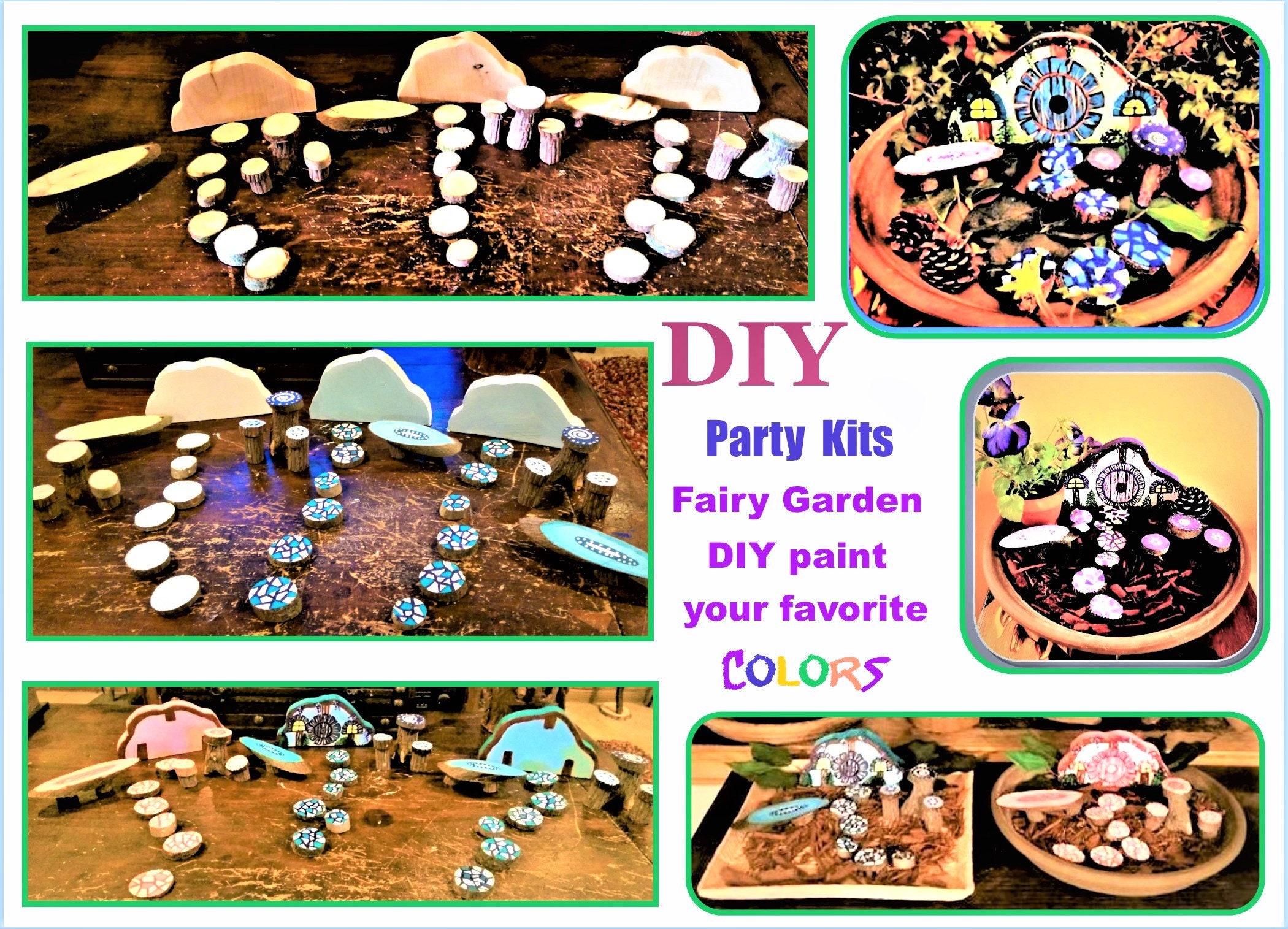 DIY Fairy Garden Child Party Ideaschild Craft Ideas Kids
