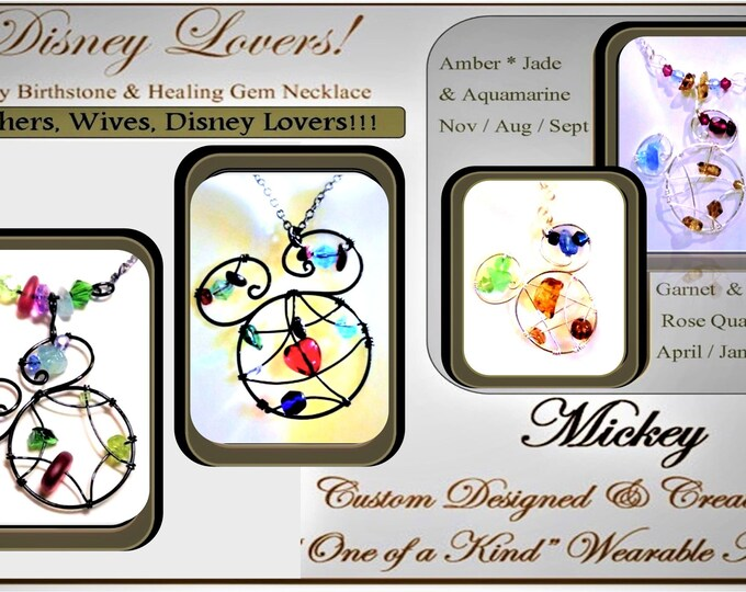 Mother jewelry - mother gift - wife gift -  Disney Lover gift - Disney jewelry - mickey jewelry - daughter gift