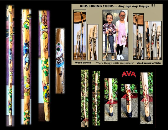 child, hiking, stick, kids, hiking,  child, walking, stick, personalized, custom, rehabilitation, child rehab, Family Hiking sticks