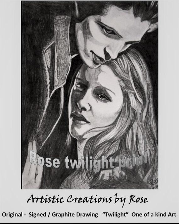 Twilight, Art, Rose Barnes, Rockdale Arts District, Local Artist, Original art, Beatles, Fan Art, Fiona Hippo -  Fiona Fan Art