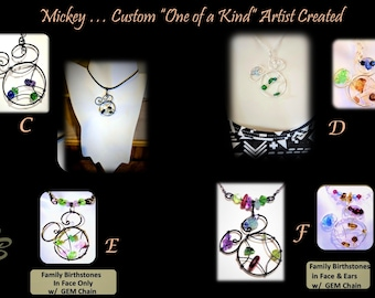 Mother jewelry,mother gift,wife gift,sister gift,Disney lover,Mothers day,Mother jewelry,birthstone jewelry,Disney Jewelry,mickey  jewelry