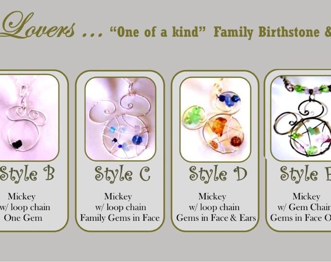 Disney Lover gift - Disney jewelry - mickey jewelry -  Mother jewelry - mother gift - wife gift -  daughter gift