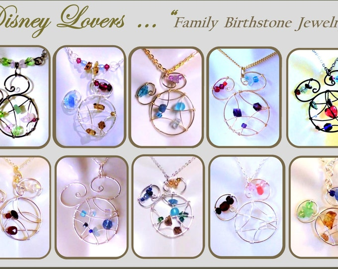 Mother jewelry - mother gift - Disney Lover gift - Disney jewelry - mickey jewelry -  wife gift -  daughter gift