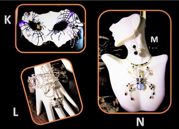 Spider bracelet, Halloween jewelry, Spider jewelry, girlfriend gift,Goth jewelry,Spider web,Nightmare before Christmas ,Pumpkin Jack,