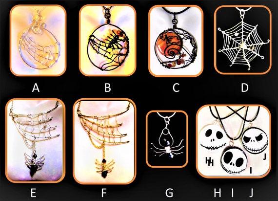 Halloween Jewelry, Goth jewelry,Spider web jewelry,Spider jewelry,Nightmare before Christmas jewelry,Pumpkin Jack,,pumpkin king