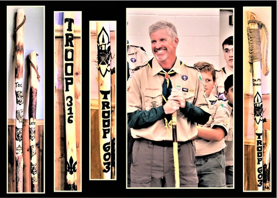 Scout, Troop leader, retirement gift - scout master, gift,retirement .Scout leader gift,Scout ,hiking stick,sick,hiking,,eagle scout