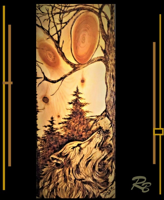 Wolf, wolves, art, Elk  art, Bear, Grizzly,  Rustic, decor, lodge, Trees,Cabin Decor,Logde Decor,Rustic decor,