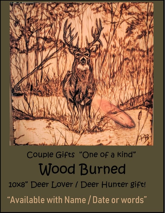 Buck, deer,art,gifts, Deer hunter gift, husband, boyfriend gift, five year, gift,Couples gift, wood anniversary gift