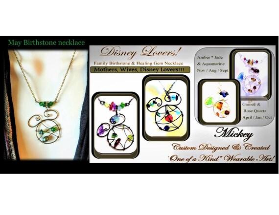 Mother jewelry, Disney Jewelry, Mickey Mouse, mickey mouse jewelry, mickey jewelry, birthstone jewelry, healing jewelry, custom jewelry