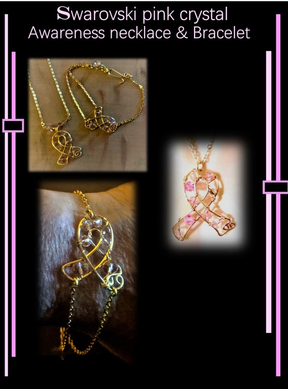 Celebrate Survival, ribbon, Necklace, Survivor necklace,  breast cancer awareness - jewelry -  survivor gift - necklace