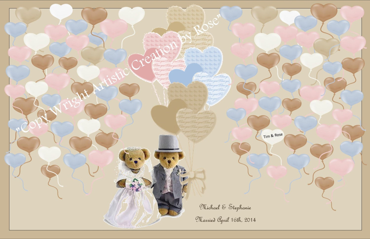 paper anniversary gift - Teddy Bear Wedding, wedding book option ...