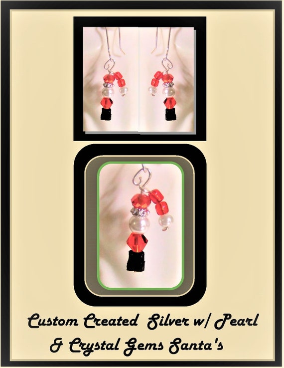 Free shipping- Order before 12/14 receive before Christmas - Christmas Jewelry - Christmas Earrings - ornaments - Holiday jewelry -