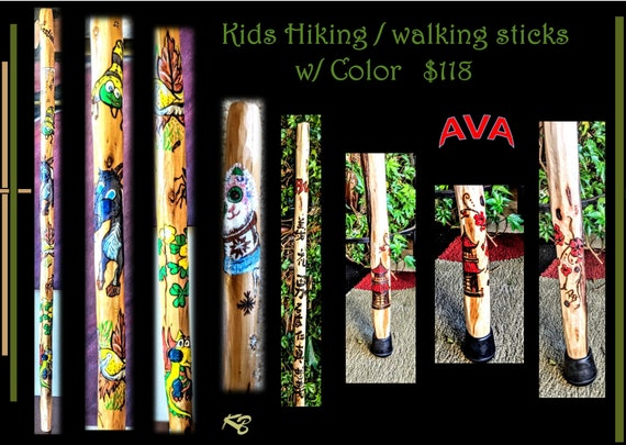 kids hiking stick, child hiking stick, child, kids, walking stick, personalized, hiking stick, wife gift, Family Hiking sticks - Trails -