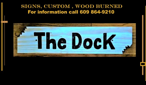 dock sign, sharkbite, cutouts, custom, wood,  personalized, gift, ANY Words, Artistic Creations by Rose