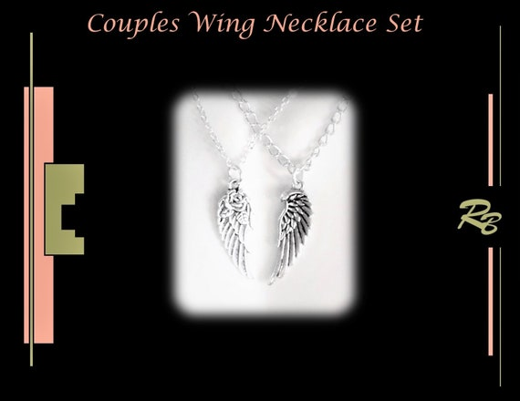 WINGS, couples gift, girlfriend gift, gifts for women, angel, wings, necklace, couples jewelry,mens gifts,couples jewelry, wife gift,