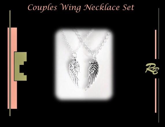 Angel, WINGS, couples gift, girlfriend gift -  angel wings, necklace, couples jewelry, mens gifts,couples jewelry, wife gift,
