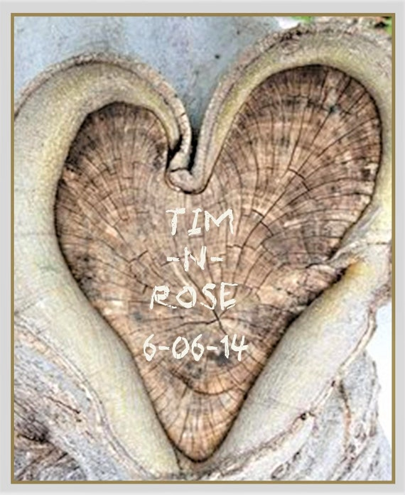 HEART, tree, One Year, paper, anniversary - Couples gift - Anniversary gift - Newlywed gift   Wedding gift -