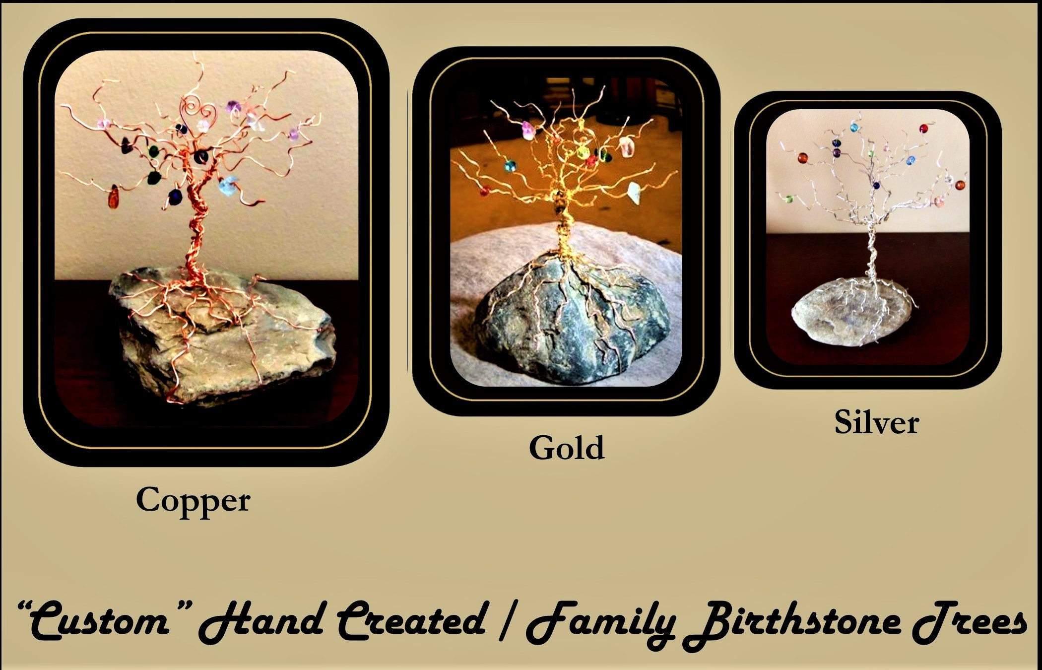 birthstone tree - family tree - mother gift - grandmother gift ...