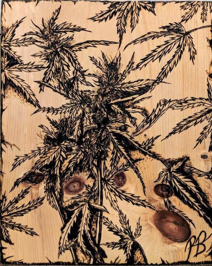 cannabis art boyfriend gift husband gift stoner gift hemp art weed