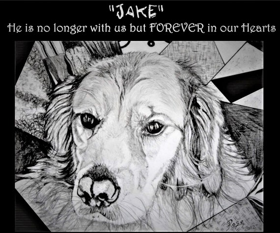 JAKE - pet lovers - pet portraits - dog lover gift - pet memorial - pet remembrance -  dog portraits - custom Portraits,Golden Retriever