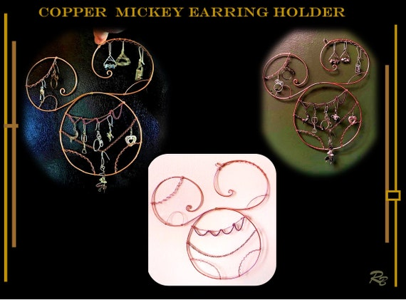 Earring, holder, display, Mickey, gift, disney, lovers,Sun catcher, hostess gift, window,Suncatcher,  hanging,  garden,decorations