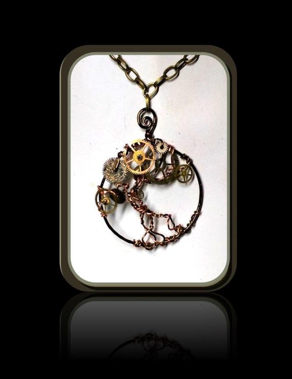 Steampunk Necklace, Steampunk Jewelry,Cosplay,Steam punk Necklace, Steampunk pendants, Steam punk, Sci Fi jewelry, comicon jewelry